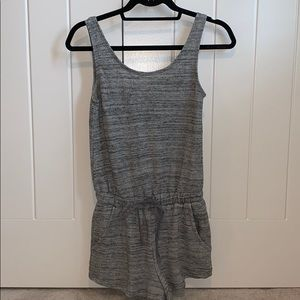 Gray Short Romper